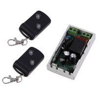 controle remoto de 315mhz rf venda por atacado-315 MHz Sem Fio AC220V 1CH 2 Botões Receptor Transmissor + 2 Controladores de Módulo de Interruptor de Controle Remoto Transceptor RF