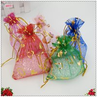 Wholesale Wholesale Small Paper Gift Bags - 50pcs 7x9cm Colorful Organza Bags Small Christmas Wedding Gift Bag Organza Bags Jewlery Packing Gift Pouch Wedding Decoration 6Z
