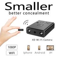 görüş uzaklığı toptan satış-Yeni Yüksek Kalite XD-W HD 1080 P Mini Wifi Kamera Kızılötesi Gece görüş Kamera Gözetleme IP / AP Kamera Hareket Algılama Uzaktan Alarm Max 128 GB
