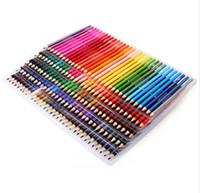 ingrosso disegnare matite-120/160 colori legno matite colorate set lapis de cor artista pittura a olio colore matita per il disegno scolastico schizzo arte forniture