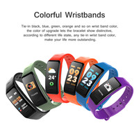 Wholesale pressure inches - C1 PLUS Smart Band 0.96 Inch Color Large Screen Blood Pressure Oxygen Smart Bracelet Fitness Tracker Heart Rate Wristband