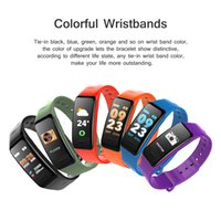 Wholesale home blood pressure monitor - C1S Fitness Trackers Smart Bracelet Activity Heart Rate Blood Pressure Monitor Ip67 Waterproof Smart Wristand For ios Android Smartphones