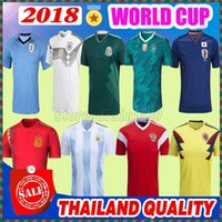 Wholesale wholesale browns jerseys - 2018 World Cup Mexico Soccer Jersey Chandal Spain Argentina Messi Football Jersey Germanys best quality 18 19 Colombia Russia Football Shirt