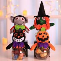 şeker kavanozu dekorasyonu toptan satış-Çocuk Cooky Kavanoz Cadılar Bayramı Şeker Kutusu Hediye Kutuları Fantezi Topu Parti Dekorasyon Şeffaf şeker kavanoz T5I031