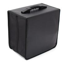 caixas de armazenamento de mídia venda por atacado-Atacado-Handheld 520 DVD Wallet Bag Storage Case Album Organizer Produtos de Mídia Preto PU Leather Discs Storage Box Acessórios