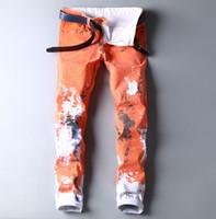 städtischen kleiderstil großhandel-2019 Neue Farben Jeans Streetwear Urban Bekleidung für Herren Calcas Jeans für Herren Urban New Style Designer Mens HipHop
