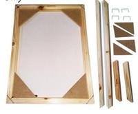 pintura a óleo imagem natureza venda por atacado-Moldura de madeira para a pintura a óleo da lona natureza da madeira DIY quadro personalizado imagem interior sem o tamanho da pintura 40x50 cm