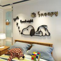 Malen Für Kinderzimmer Großhandel Wandsticker Malerei Für Einteilige  Wandsticker Für Kinderzimmer Zimmer Dekoration Cartoon Snoopy