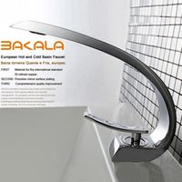 Wholesale waterfall bathroom basin mixer - Wholesale- BAKALA modern washbasin design Bathroom faucet mixer waterfall Hot and Cold Water taps for basin of bathroom F6101-1