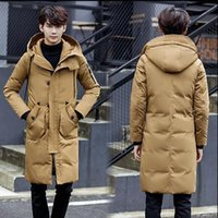51fce44f141 Winter new men s Clothing thick down jacket men s long section slim hooded Outerwear  Parkas coat