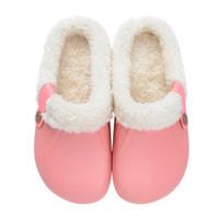 Scarpe da Terra per casa in Pelle Antiscivolo NEW SLIPPE Memory Foam Indoor//Outdoor Pantofole Invernali da Uomo e da Donna in Cotone