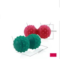 Wholesale yoga rollers resale online - New style silicone massage ball salient point yoga peanut balls rehabilitation therapy massage roller stress relief ball exercise