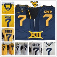 c35259689 WVU West Virginia Mountaineers  7 Will Grier Limited Jersey Gold Yellow  White Navy Blue Stitched XII NCAA College Football Jerseys Men S-3XL