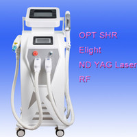 Wholesale hair pigments - Wholesale yag laser+ IPL + Shr Laser Opt Hair Removal Tattoo Removal Multifunction ipl shr hair pigment removal machine Beauty Device