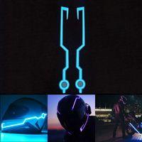 gece ışık kitleri toptan satış-2018 Yeni Motosiklet Kask Işık Modu Kiti Kasklar Gece Sürme Sinyal Yanıp Sönen Işıklar Şerit Bar ALS88