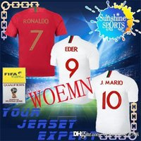 Wholesale Ms Top - 2018 Portugal WOMEN world cup soccer jersey 2018 RONALDO EDER ANTUNES home red away Ms J.MARIO GOMES football shirts top thanland quality