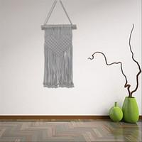 ingrosso arazzi fatti a mano-Tenda di lavoro a maglia tessuto a maglia appesa a parete Boemia Handmade Macrame Tapestries per la casa di nozze Decor Tools Nuovo arrivo 21 5 cm Z.