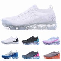 Wholesale cool running shoes - New Vapormax New Running shoes For Mens Triples White Black Cool Grey TPU Trainers Fashion Designer Trainers Sport Sneakers
