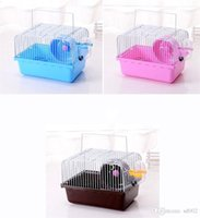casas de plástico para mascotas al por mayor-Multi Function Portable Plastic Hamster Jaula House Pet Supplies Min Animal Jaulas de un piso con suministros de alimentación de agua 8 5be ZZ