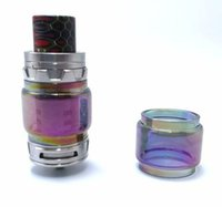 Wholesale Items Sold For Wholesale - e cigarette atomizer rainbow glass tube replacement for tfv12 prince tfv12 baby prince tank 2018 latest craze selling cheap items