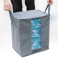 bambuskohletaschen großhandel-Non Woven Storages Taschen Faltbare Hohe Kapazität Bambuskohle Kleidung Veranstalter Feuchtigkeitsfeste Kleidung Tasche Heißer Verkauf 3 8gn CB