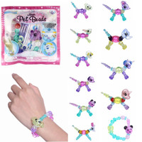 Wholesale multi toy for sale - Magic Animals pet beads dogs elephant cats dogs unicorns lions bunny bead Make a Bracelet for Kids toys Jewelry gifts MMA956