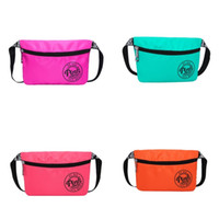 Wholesale Portable Vaccum - Square Lady Waist Bag Portable Cosmetic Bags Multi Color Waterproof Zipper Handbag Pink New Arrive 14ch V