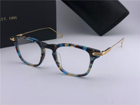 Wholesale lens plastic frame online - New designer optical glasses retro square metal K frame ultra light transparent lens frame top quality small frame unisex model Riad