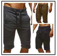 Wholesale Vintage Sweatpants - New Fashion Men Sporting Beaching Shorts Trousers Cotton Bodybuilding Sweatpants Fitness Short Jogger Casual Gyms Men Shorts