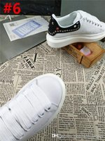 Wholesale donna brown - Fashion Alexander Oversize McQueens Leather Mens LEATHER PLATFORM WITH STUDS Donna - Pelle Runner Sneakers With Box