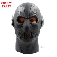 voll dc großhandel-Die Flash-Masken Film Superhero Cosplay Party Maske Halloween Full Head Realistische Latex Maske DC-Kostüm