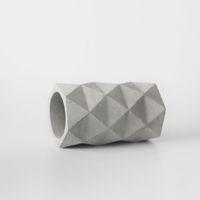 ingrosso fiore concreto-Stampi in silicone cemento ornamenti concreti geometrici Porta penne venti industriali stampo stampo per vasi di fiori