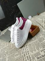 Wholesale Mens Shoes Platform - Alexander Designer Luxury Brand Man Casual Shoes Mens Womens Fashion Luxury White Leather Platform Shoes Streetwear Running Sports Sne