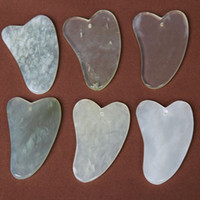 Wholesale Blood Circulation Massager - Natural Jade GUASHA Chinese Acupuncture Scraping tool back Massage Body Massager Gua Sha Board Scrape Therapy blood Circulate