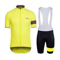 nuevo rapha jersey al por mayor-RAPHA equipo Cycling Short Sleeves jersey culotte establece la nueva primavera otoño quick dry bicycle jersey establece 91216X