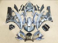 ingrosso kit di plastica yamaha-3 carenature nuove per Yamaha YZF-R6 YZF600 R6 06 07 2006 2007 Carenatura per moto in plastica ABS Carenatura per carenatura Argento PV2