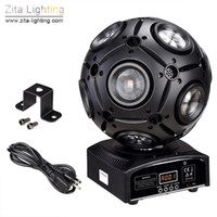 2Pcs / Carton Zita Lighting Moving Head LED luci da gioco Wash Beam Stage RGBW 4IN1 12X10W Rotating Ball DMX 512 Disco Dance Party Effect