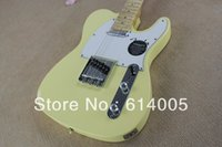 Wholesale electric guitars tele sunburst - HOT tele guitar High Quality milk yellow tele guitar Ameican standard telecaster electric Guitar in stock