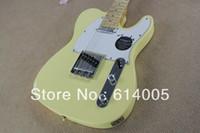Wholesale electric guitars tele sunburst online - HOT tele guitar High Quality milk yellow tele guitar Ameican standard telecaster electric Guitar in stock