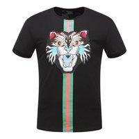 Wholesale Mens Designer Casual Shirts - T Shirt Mens Designer T Shirts Luxury Shirt Men Women Casual T-shirt Fashion Crew Neck Cat Pattern Embroidery Cotton Blend Short Sleeve