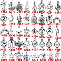 Wholesale Pearl Akoya White - 400 Designs for your choose - Locket Cages Love Wish Pearl  Gem beads oyster Pearl Mountings - Pearl Cage - WITHOUT Akoya Oyster