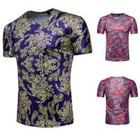 ingrosso t-shirt da stampa di bandana-Magliette 3d Camicia Paisley Summer Mens Nuove marche Bandana manica corta Camicia 3d Stampa Moda Camicie Abbigliamento Camicie casual di alta qualità