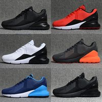 Wholesale wrestling shoes mens size 13 - 2018 New 270 OG Rubber KPU Triple Black White Oreo Red Green Yellow Blue Grey Mens Running Desinger Shoes 270s Trainer Sneakers Have Size 13