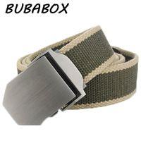 Wholesale tactical belt buckles wholesale - Hot Male Tactical Belt Top Quality Wide Canvas Belt For Men Automatic Buckle Man Length 110cm, 120cm, 130cm,140cm