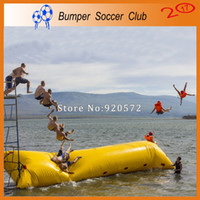 Wholesale tarpaulin bags - Free Shipping 7x3m Fascinating Inflatable Blob Jump With 0.9mm Thickness PVC Tarpaulin, Jumping Pillow,Water Air Bag