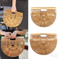 Wholesale Womens Size Small - Fashion Womens Retro Bamboo Handbag Lady Large Tote Bags Shoulder Bag Cult Gaia Small Size: 28*20*7.6cm