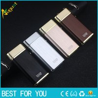 Wholesale brand men lighter resale online - Tiger brand double arc pulse lighter windproof rechargeable USB lighter metal lighters with gift box for man