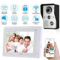 Wholesale touch video intercom system - OWSOO 7'' TFT Touch Screen Wired Video Door Phone System Visual Intercom Doorbell Indoor Monitor 1000TVL Outdoor Infrared Camera