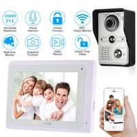 дверной звонок с сенсорным экраном оптовых-OWSOO 7'' TFT Touch Screen Wired Video Door Phone System Visual Intercom Doorbell Indoor Monitor 1000TVL Outdoor Infrared Camera