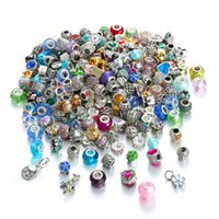 DIY Beautiful Big Hold Alloy And With Crystal Charms Fit European Bracelets Mis Styles 100pcs Free Shipping KKA1060